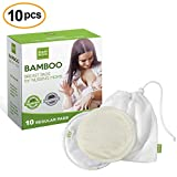 en bambou biologique d'allaitement Coussinets d'allaitement, réutilisable et lavable Coussinets d'allaitement, Super Doux et absorbant, anti-fuite, parfait Cadeau de Baby Shower, forme régulière
