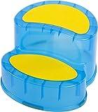 Bieco 79000112 - Sitz/Tritt, 2 Stufen je, ca. 10cm, ca. 39 x 34 x 20 cm, blau