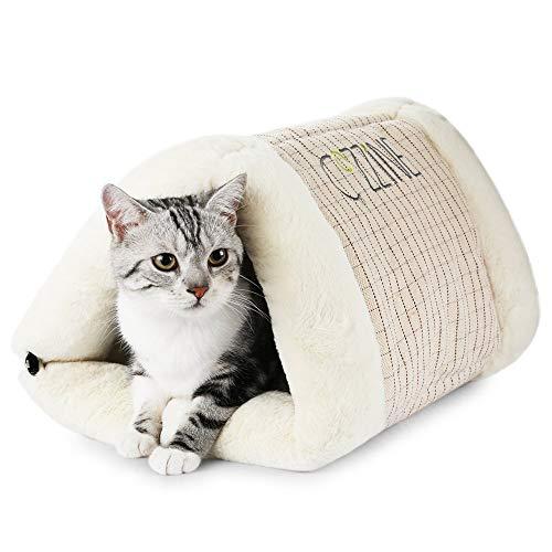 GBlife Portatíl Cojín Extraíble Suave Cama de Gatos Perros Pequeños Casa para Mascotas y Sofá Multifunción Habitación de Perros Pequeños Camas Creativas (Un tamaño, Begei)