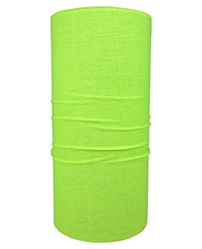 Hilltop Multifunktionstuch/Halstuch/Schlauchtuch/Bandana/unifarben, Farbe uni:neon gelb