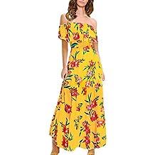 4fc9d0f93 Vestido Ajustado Floral con Hombros Descubiertos Y Vestido Largo Sin Mangas  Elegante para Mujer
