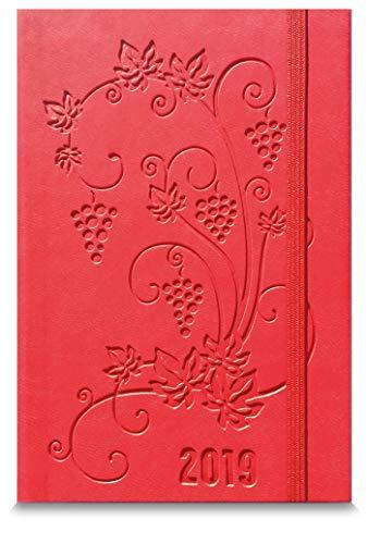 Agenda settimanale tascabile rossa 2019   9x14 cm