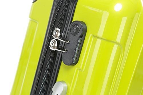 BEIBYE Zwillingsrollen 2048 Hartschale Trolley Koffer Reisekoffer in M-L-XL-Set in 14 Farben (Set, GRÜN) - 3