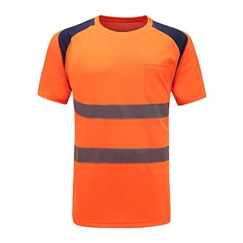 warn t Shirts Herren (Orange, XL)