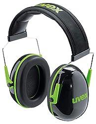 Uvex K1 Kapselgehörschutz - Grün-Schwarz - Gehörschutz mit 28 dB Dämmung