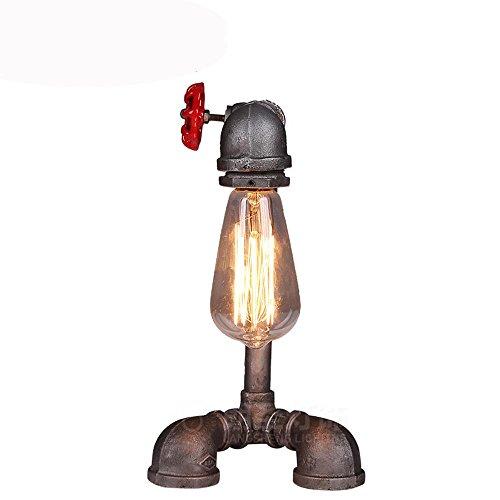 Camera da letto d'epoca in ferro battuto lampada da comodino di lampada tubo (Ferro Battuto Tradizionale Lampada Da Terra)