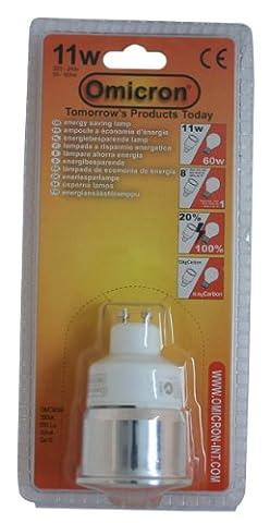 Omicron GU10 11 Watt Compact Fluorescent Light Spotlight