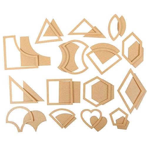 HEEPDD 54pcs Quilten Template Set, handgemachte gemischte Quilt-Vorlagen mehrere klare Acryl Muster Schablone Vorlage DIY-Tool für Lederhandwerk Quilten Nähen -