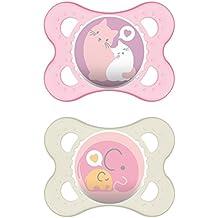Mam Babyartikel 66542422 - Lot de 2 chupetes, sin BPA, surtido: colores aleatorios