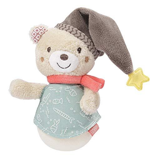 FEHN 060539 Mini-Stehauf Bär / Lustiges Motorikspielzeug zum Greifen, Tasten, Fühlen und Stupsen - Für Babys und Kleinkinder ab 0+ Monaten