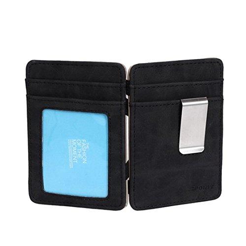 ECM07B04 Tan Schwarz Solid Magic Brieftasche und Kredit / ID Fall Perfekte Design Leder Mens Card Holder Wallet Online-Shopping f¨¹r den Abend von Epoint