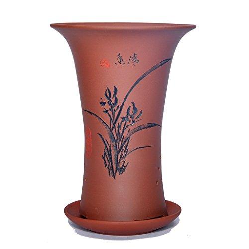 Pot de fleurs BOBE Shop en céramique de 30cm avec Le récipient Chinois Vert d'intérieur de Plateaux de Style de Plateau (Couleur : #1)