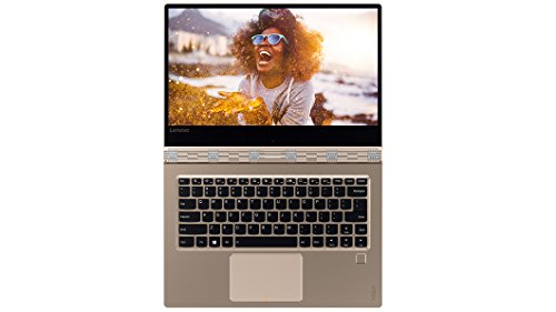 "Lenovo Yoga 910-13IKB Notebook Convertibile, Display da 13.9"" UHD IPS Multi-Touch, Intel Dual-Core i5-7200U, 2.5 GHz, 8 GB RAM, SSD da 256 GB, GPU Intel Integrato, Oro/Champagne"