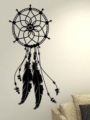 Atrapasueños de plumas de Atrapasueños Ethnic–vida amor familia casa juntos cita de pared Adhesivos de vinilo pegatinas Art Decor DIY