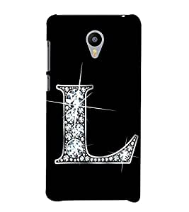 Alphabet L 3D Hard Polycarbonate Designer Back Case Cover for Meizu M3 Note :: Meizu Note 3