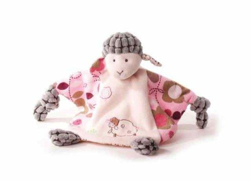 Inware 7966 - Schmusetuch Schaf Sweety, beige/rosa, als Handpuppe, Schnuffeltuch, Trösterchen, 24 x 18 cm