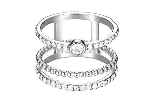 Esprit Damen-Ring JW52892 925 Silber rhodiniert Zirkonia weiß Rundschliff Gr. 57 (18.1) - ESRG92787A180