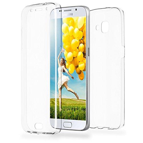 Doppia cassa come nome del Samsung Galaxy A5 (2016) | Trasparente Custodia in silicone copre l'intero | Thin 360° completa casi di smartphone per OneFlow | Quarta di copertina in Incolore