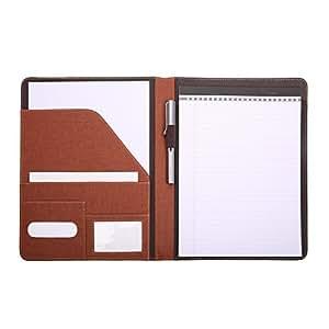 Leathario portfolio en cuir pu pour bureau porte document agenda d 39 affaire chemise de dossier en - Porte document pour bureau ...