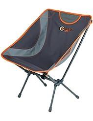 Portal Aaron–Senderismo camping Silla, 52x 32x 35/68,5cm, 1,4kg, Capacidad de Carga 100kg, muy ligera y Super compacta