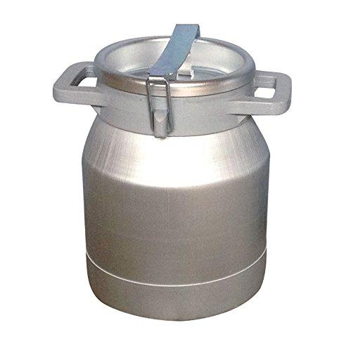 Ellofence Milchkanne 10 Liter - Aluminium mit Deckel
