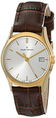 Claude Bernard Women's 54003 37J AID Classic Ladies Analog Display Swiss Quartz Brown Watch