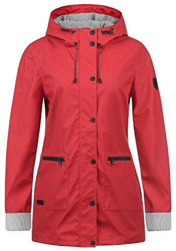 DESIRES Becky Damen Regenmantel Regenjacke Übergangsjacke Mit Kapuze, Größe:M, Farbe:Barbados C (0989)