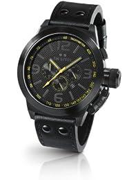 TW Steel Herren-Armbanduhr XL Canteen Style Chronograph Leder TW-900