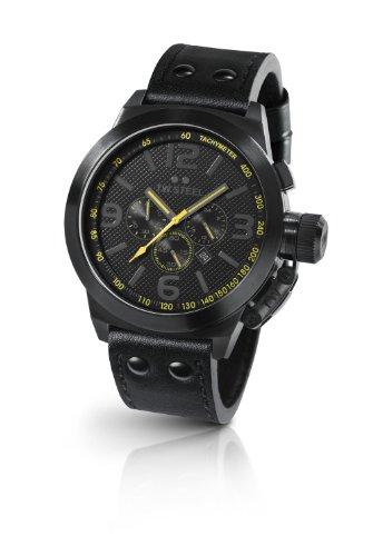 TW Steel - TW-900 - Montre Femme - Quartz Chronographe - Chronomètre - Bracelet Cuir Noir
