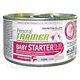 Personal Trainer Baby Starter- Comida de perro en lata, ideal para cachorros de 1 a 3 meses, líquido, facilita el destete, lata de 135 g