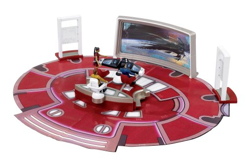 Sablon Star Trek - USS Enterprise bridge with figure of Captain Kirk - Figure USS Enterprise Command Bridge