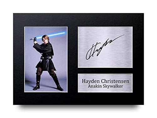 HWC Trading Hayden Christensen Geschenke Unterzeichneten A4 Gedrucktes Autogramm Star Wars Anakin Skywalker Druck-Foto-Bilderanzeige