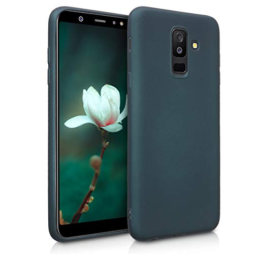 kwmobile Samsung Galaxy A6+/A6 Plus (2018) Hülle - Handyhülle für Samsung Galaxy A6+/A6 Plus (2018) - Handy Case in Metallic Petrol