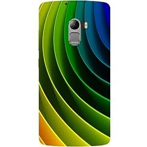 Casotec Curvy Design Design Hard Back Case Cover for Lenovo K4 Note