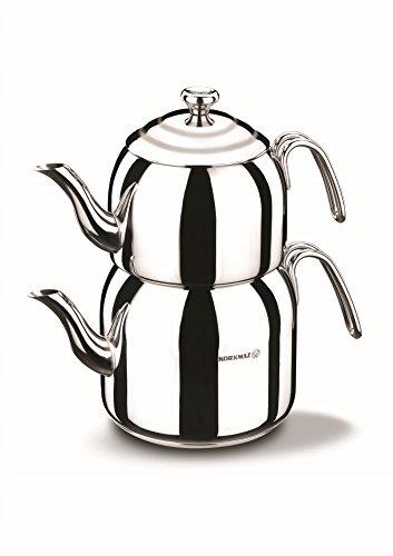 Tea Pot Set/Caydanlik Takimi Teekocher, Edelstahl, Mehrfarbig, 48 x 48 x 48 cm, 4-Einheiten ()