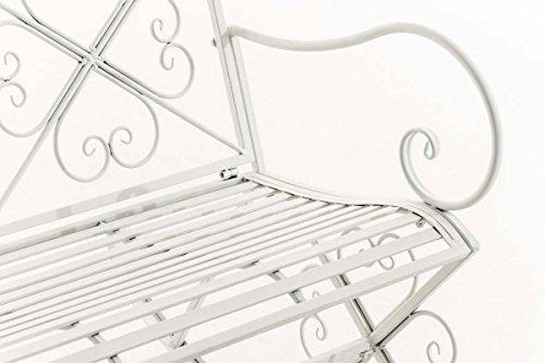 CLP Garten-Bank, 2er Schaukelstuhl SILLY, Eisen lackiert, Design nostalgisch antik, ca 120 x 45, Höhe 95 cm Weiß - 7