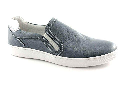 Nero Giardini Chaussures Black Jardins 4112 Jean Sport Baskets Hommes enfilent Blu