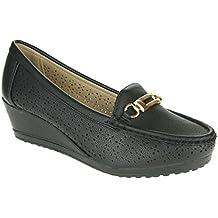 Mujer Señoras Mocasines Comodidad Amortiguado Masaje Trabajo de oficina Tacón de cuña Sandalias Zapatos tamaño