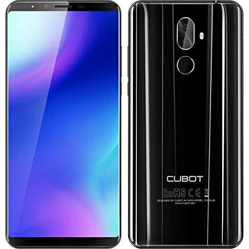 4G Smartphone ohne Vertrag, CUBOT X18 Plus, Billige Senioren Handy mit 5,99 Zoll (18:9) Touch Display, Android 8 Mobile, 4000mAh akku, 4GB+64GB, Dual SIM, Günstige Portable unter 200 Euros, schwarz