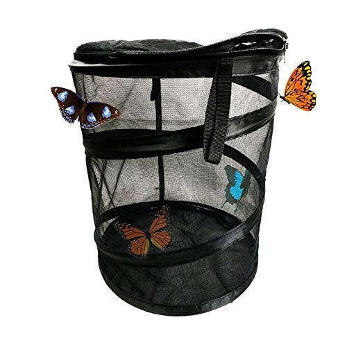 lingsgarten Schmetterlinge Lebensräume Zusammenklappbarer, runder Insektennutzungsraum Schmetterlingsbeobachtungskäfig für Grillen , Leuchtkäfer , Raupen , Marienkäfer , usw. ()