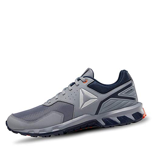 Reebok Ridgerider Trail 4.0, Scarpe da Fitness Uomo, Multicolore (Grey/Navy/Orng/Slvr 000), 44.5 EU