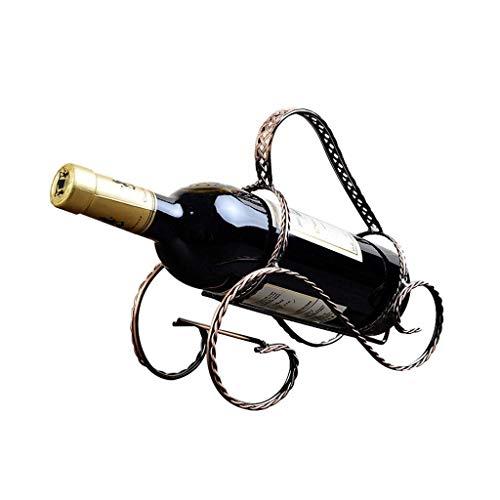 CCLLA Weinregal Modernen Minimalistischen Schmiedeeisen Weinständer Dekoration Kreative Teng Klausel Wein Dekoration (Farbe: Bronze)