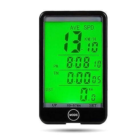 étanche Multi Fonction écran tactile Vélo ordinateur de vélo Compteur de bicyclette Compteur de vitesse Odomètre avec rétroéclairage LCD pour sports de plein air d'équitation de cyclisme de montagne Vélo pliant Vélo Véhicules de route VTT