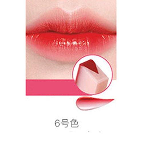 Femmes Nouvelle Mode Gradient Couleur Mat Rouge à Lèvres Crayons Beauté Maquillage Fruit Smell Bicolore Teinte Lip Bar