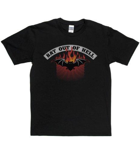 Rough Justice Bat Out Of Hell Classic Rock Musik Legends Retro-T-Shirt Schwarz