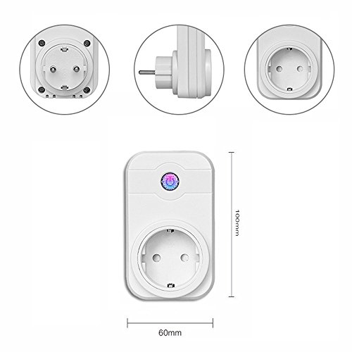 PRECORN Funksteckdose WIFI kompatibel Amazon Alexa (Echo/Echo Dot) WLAN Smart Home Wifi Steckdose