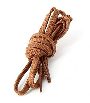 Les lacets Français - Lacets Plats Coton Couleur Cuivre
