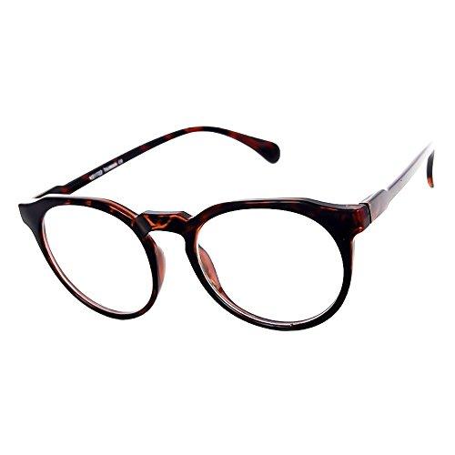 Preisvergleich Produktbild Neutrale Gläser KISS®-Stil MOSCOT mod. GLATTE Johnny Depp-Brillen Rahmen Retro-Mann Frau unisex - HAVANNA