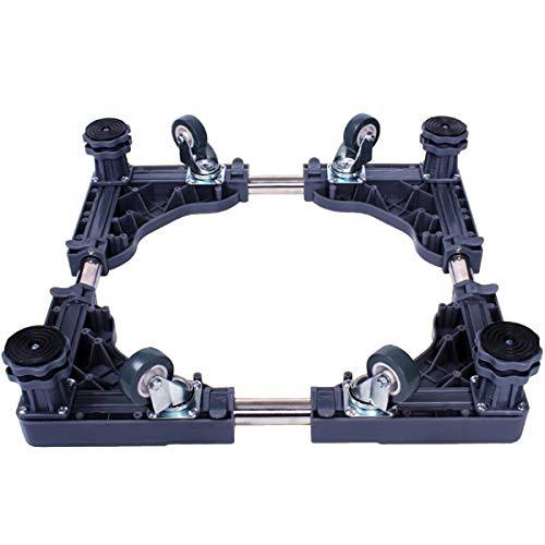 Mfnyp Waschmaschine Sockel Kühlschrank Basis, Und 4 Verstellbare Stützbeine Mit Drehbarem Gummi Räder Für Trockner, Trommelwaschmaschine,Grau