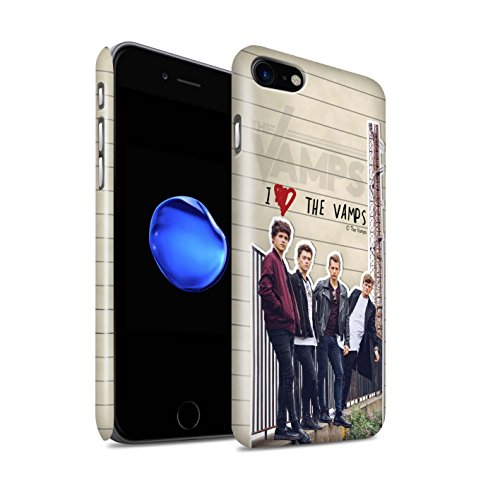 Offiziell The Vamps Hülle / Glanz Snap-On Case für Apple iPhone 7 / Connor Muster / The Vamps Geheimes Tagebuch Kollektion Band